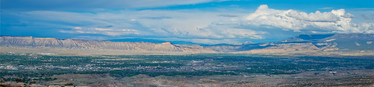 Photo of Grand Junction as viewed from the Colorado National Monument