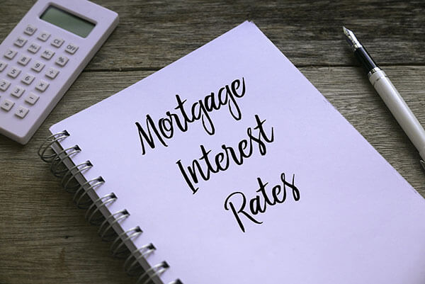 Photo of a mortgage application